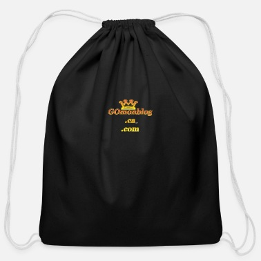 GOmonblog.ca .com yellow crown - Cotton Drawstring Bag