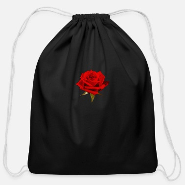 Rose A Rose is a Rose - Cotton Drawstring Bag