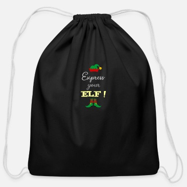 Expression Express your ELF! - Express yourself! - Cotton Drawstring Bag