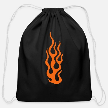 Fire flames 3 - Cotton Drawstring Bag
