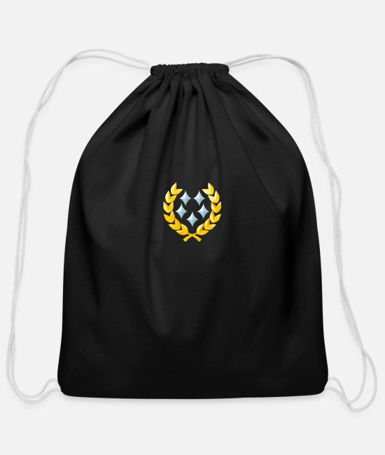 Ps3 Bags & Backpacks - halo 5 star general - Cotton Drawstring Bag black