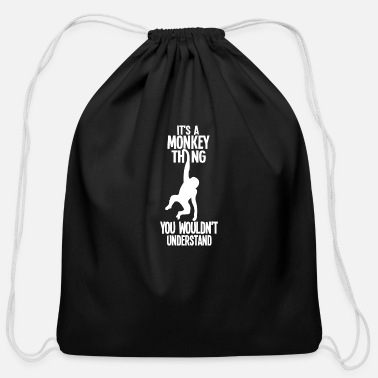 Gorilla Its a monkey thing - Cotton Drawstring Bag