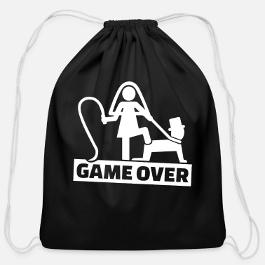 Bachelor Party The game is over bachelor party - Cotton Drawstring Bag
