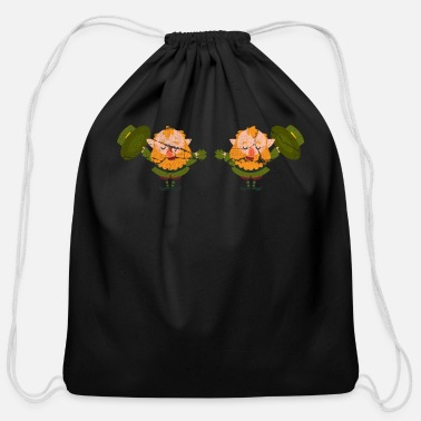 Stick Figure Gnome - Cotton Drawstring Bag