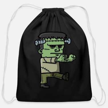 Scary Scary Green Monster zombie - Cotton Drawstring Bag