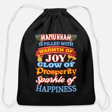 Joy Hanukkah Happiness Joy Prosperity Happiness - Cotton Drawstring Bag