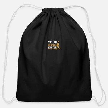 Running Walking - Your - Cotton Drawstring Bag