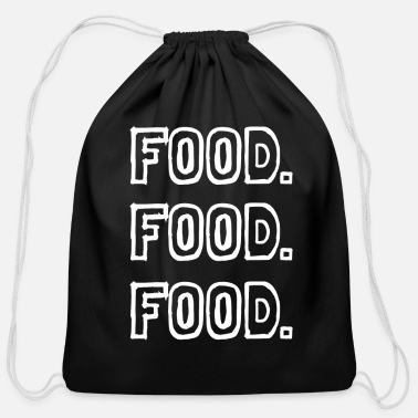 Food food food food - Cotton Drawstring Bag