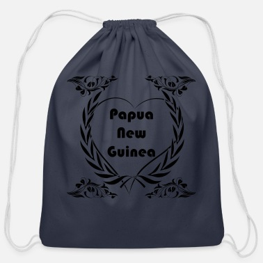 Papua New Guinea I love Papua New Guinea - Cotton Drawstring Bag