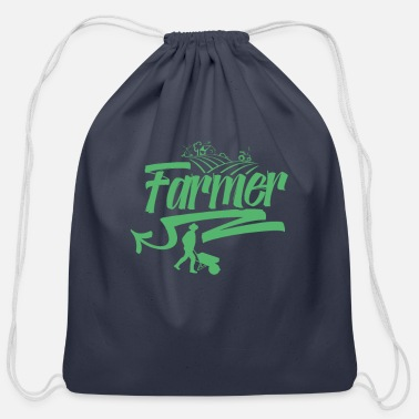 Farm Farming Farming Farming Farming - Cotton Drawstring Bag