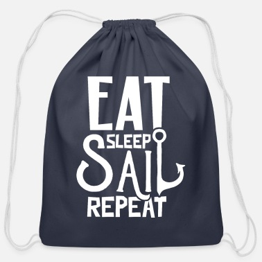 Sailing Sailing Sailing Sailing Sailing - Cotton Drawstring Bag