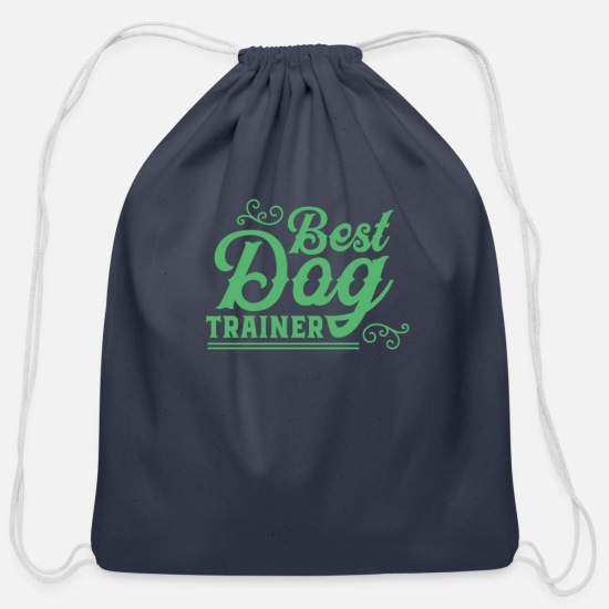Hundeerziehung Bags & Backpacks - Trick Dogs Training Dog School Dog Trainer Puppy - Cotton Drawstring Bag navy