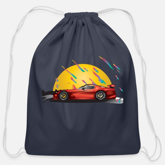 Sports Bags & backpacks - sports car - Cotton Drawstring Bag navy