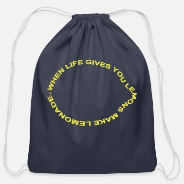 Laugh when life gives you lemons make lemonade - Cotton Drawstring Bag