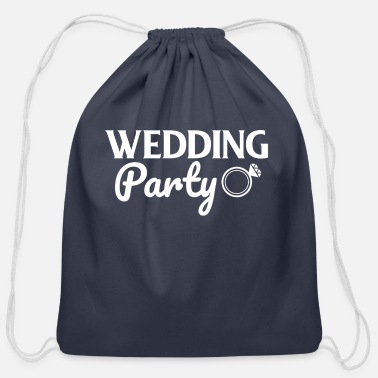 Wedding Party Wedding Party - Wedding Ring - Cotton Drawstring Bag