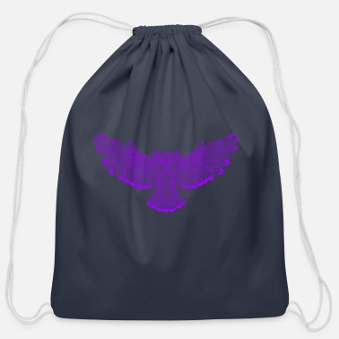 Vector owl vector - Cotton Drawstring Bag