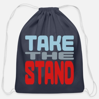 Takecare take the stand - Cotton Drawstring Bag