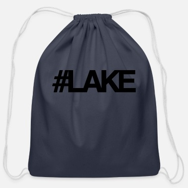 Lake #Lake - Cotton Drawstring Bag