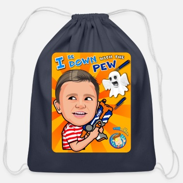 Vision FUNnel Vision Down With The Pew - Cotton Drawstring Bag