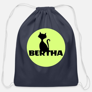 First Name Bertha name first name - Cotton Drawstring Bag
