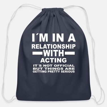 Acting relationship with ACTING - Cotton Drawstring Bag