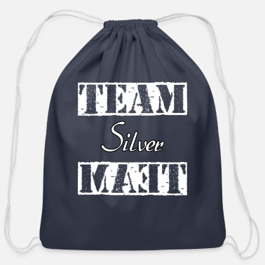 Silver Team Silver - Cotton Drawstring Bag