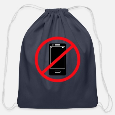 Mobile Phone Vector no mobile phones sign - Cotton Drawstring Bag