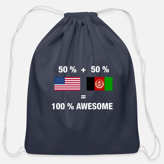 Hungarian Bags & Backpacks - Hungarian American Half Hungary Half America Flag - Cotton Drawstring Bag navy