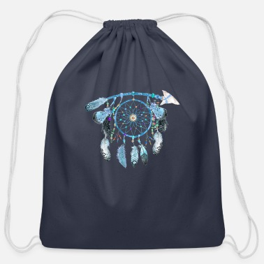 Jewelry Indian Jewelry,Native American Jewelry, feather - Cotton Drawstring Bag