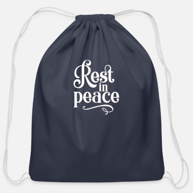 Rest In Memory Of Rest in Piece - Cotton Drawstring Bag