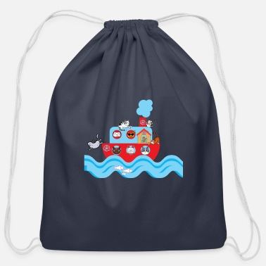 CATS ON VACATION for Kids - Cotton Drawstring Bag