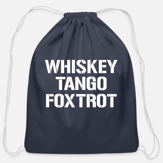 Whiskey Bags & Backpacks - Whiskey Tango - Cotton Drawstring Bag navy