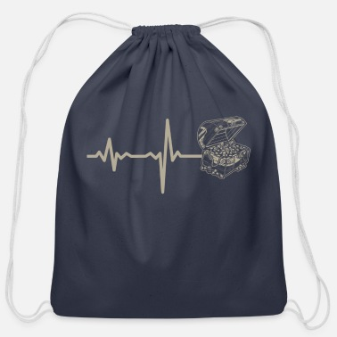 Jewelry gift heartbeat jewelry chest - Cotton Drawstring Bag