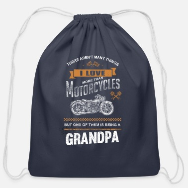 Motorcycles Grandpa - There aren't many things - Cotton Drawstring Bag