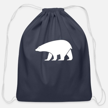 Cold polar bear - Cotton Drawstring Bag