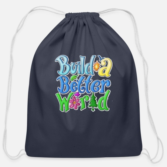 Humor Bags & Backpacks - Comic - Cotton Drawstring Bag navy