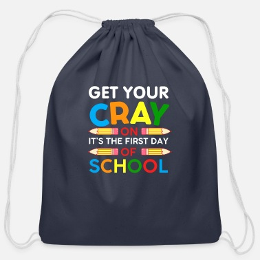 Class Crayon Cray First School Day Learn Writing Pen - Cotton Drawstring Bag