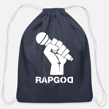 Rapgod rapgod wite - Cotton Drawstring Bag