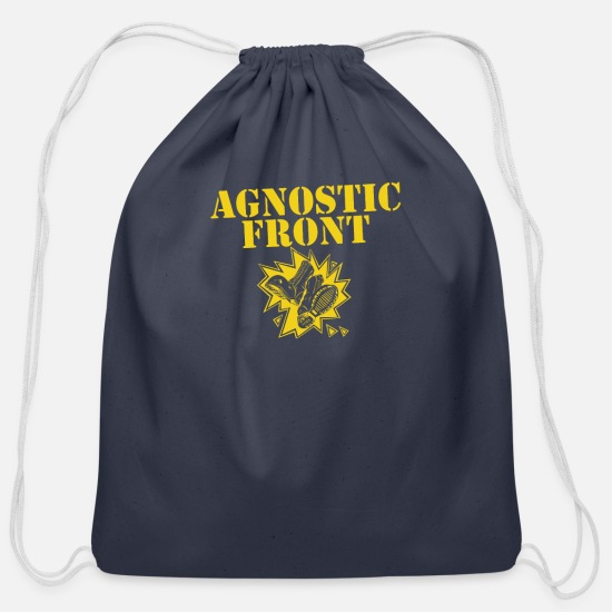 Agnostic Bags & Backpacks - Agnostic front - Cotton Drawstring Bag navy