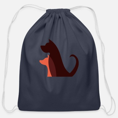 Dog Dog dog dog - Cotton Drawstring Bag