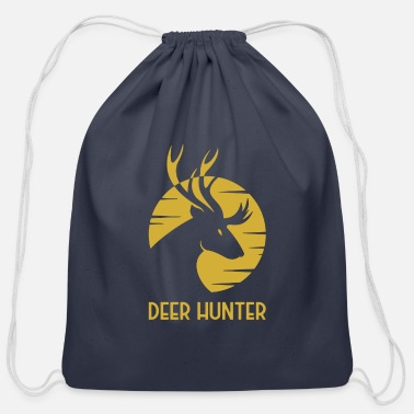 Golden Deer Emblem - Cotton Drawstring Bag