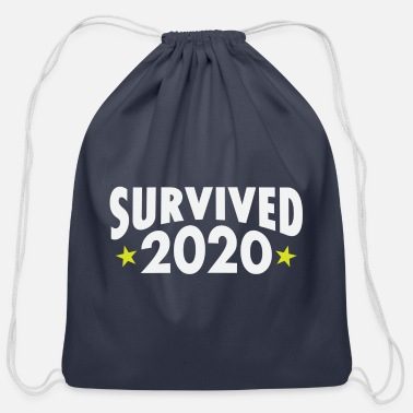 Hashtag I Survived 2020 – What a year! - Cotton Drawstring Bag