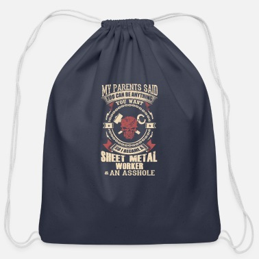 Sheet Metal Worker I Became A Sheet Metal Worker - Cotton Drawstring Bag