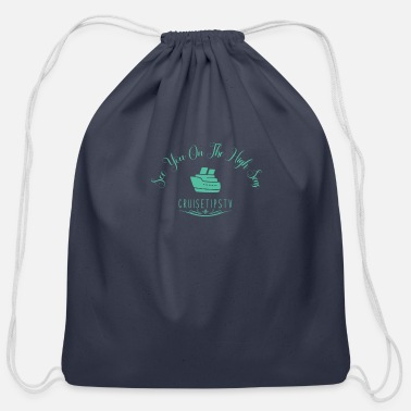 High Seas Elegant High Seas Cruise Design - Cotton Drawstring Bag