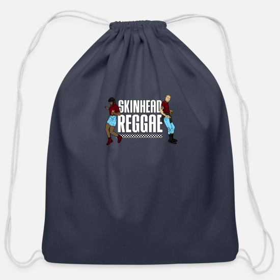 Skinhead Bags & Backpacks - Skinhead Reggae graphic - Traditional Skinhead - Cotton Drawstring Bag navy