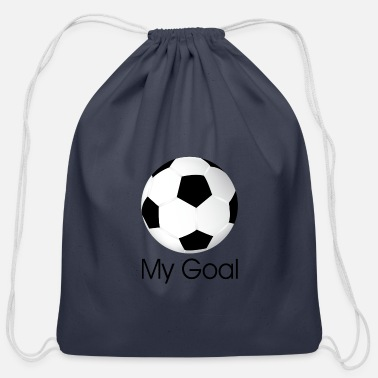 Soccer goal - Cotton Drawstring Bag