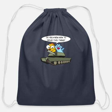 World Of Tanks Fish Tank - Cotton Drawstring Bag