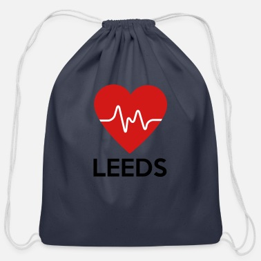 Leeds Heart Leeds - Cotton Drawstring Bag
