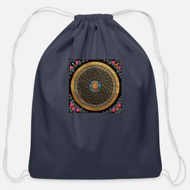Buddhist Buddhist Mandala - Cotton Drawstring Bag