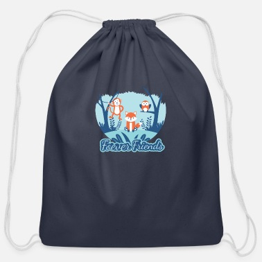 Friends Forever Forever Friend - Cotton Drawstring Bag